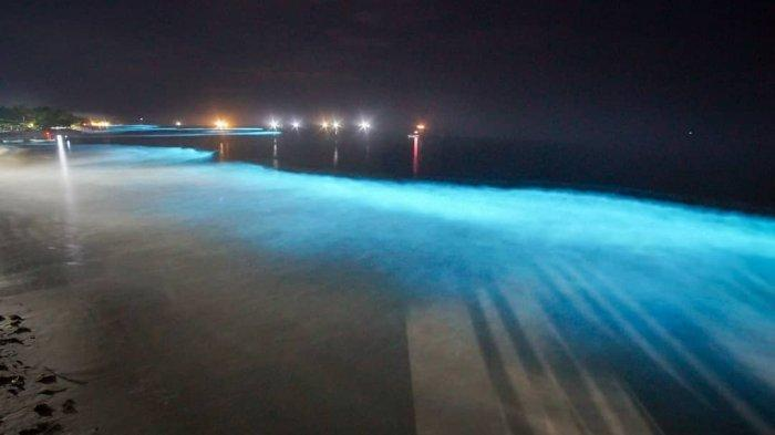 Fenomena Langka yang Jarang Terjadi, Air Laut Bercahaya di Pantai Lampung